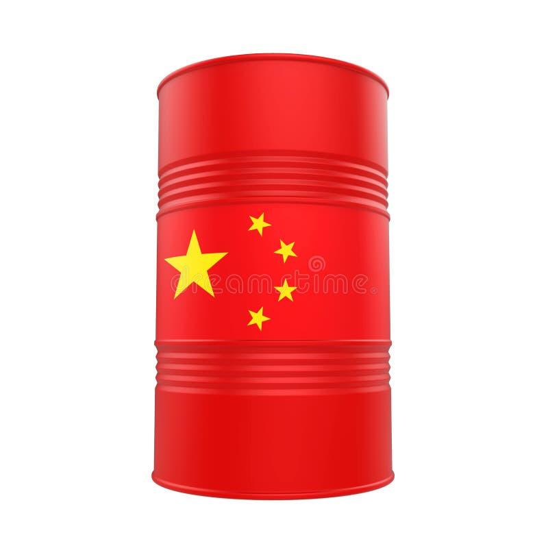 China Flag Oil Barrel stock illustration