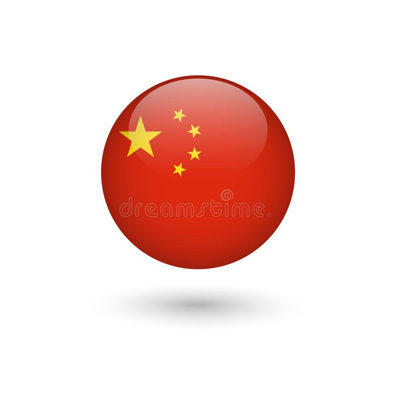 China Flag Round Glossy Stock Vector Illustration Of Circle 114312284