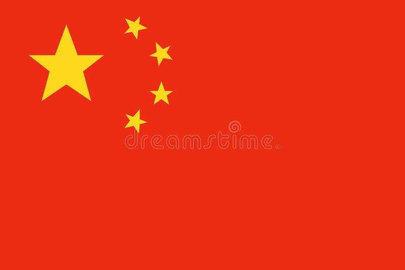 China flag vector stock image