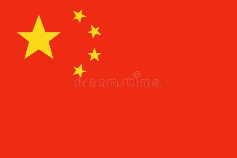 China-Flaggenvektor vektor abbildung