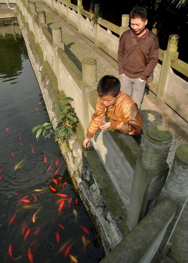 China: FO Shan Gu Xi Boeddhistische Tempel royalty-vrije stock foto