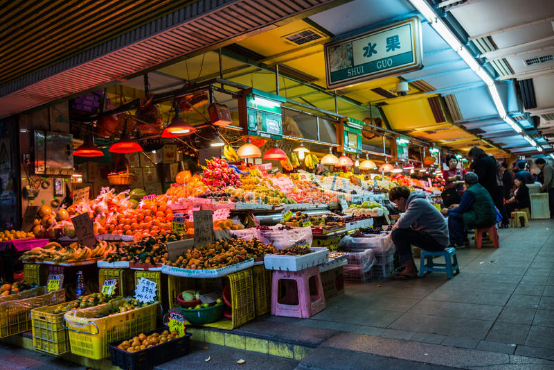 China: fruit market, royalty free stock image