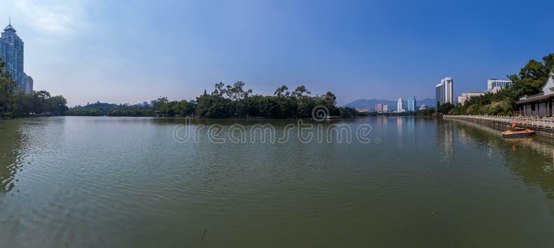 China Fuzhou West Lake royalty free stock photography