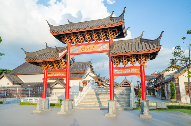 China gate. Art architecture of China gate stock image