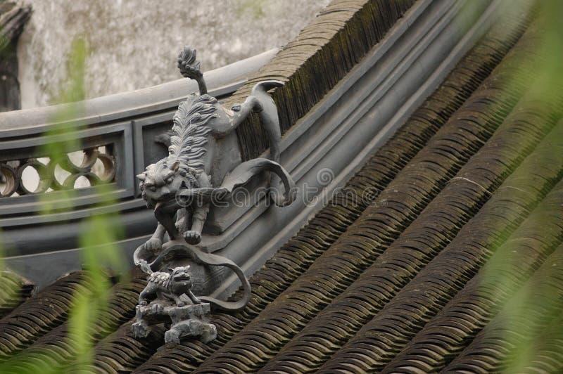 China-Gebäude-Dekoration stockfoto