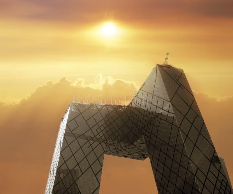 China-Geschäft und Fernsehmitte lizenzfreie stockfotos