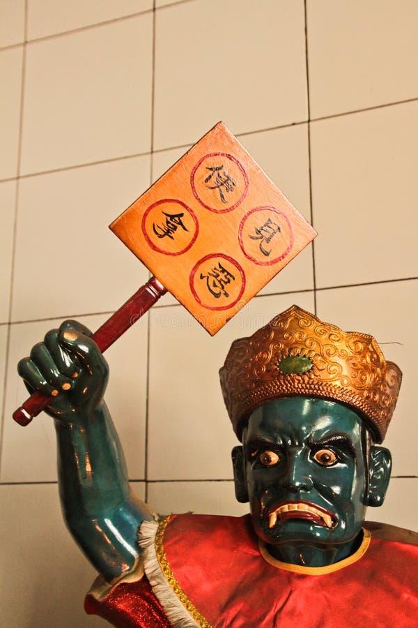 China God statue of the Chinese Vihara Gunung Timur Temple of th. Statue of the Chinese Vihara Gunung Timur Temple of the city of Medan, Sumatra, Indonesia stock photo