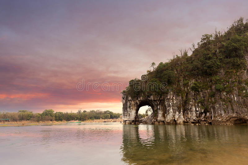 China Guilin. The famous natural landscape royalty free stock photography