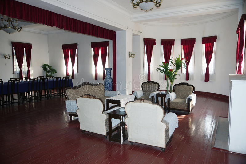 China Guilin Li Tsung-jen's residence - when the Republic Presidential PalaceFive sets of photos-Drawing room- royalty free stock images