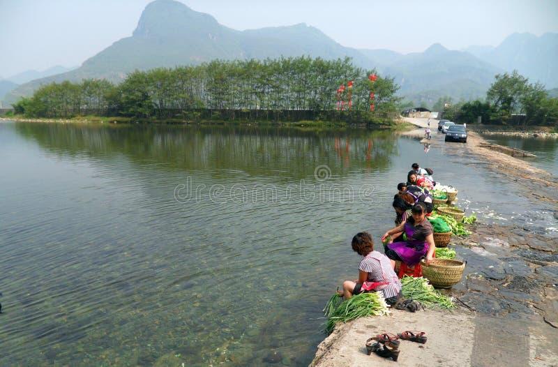 China, Guizhou, vila original fotografia de stock