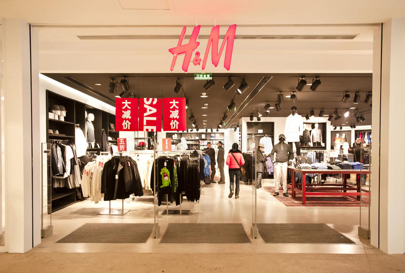 China: H&M Store. CHONGQING, CHINA - JAN 22: H&M store in Chongqing on Jan 22, 2011. As of 2010, H&M has opened 31 stores in China