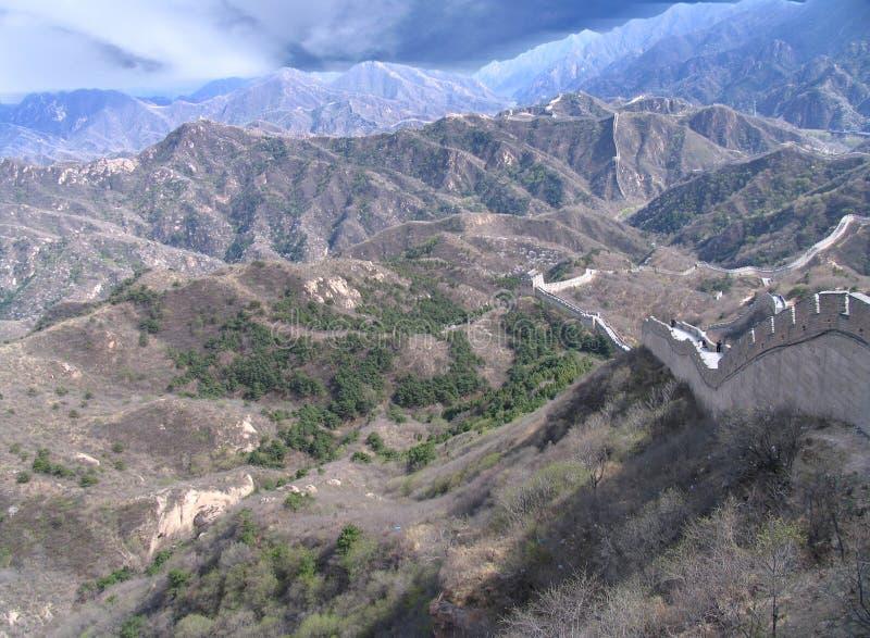 China hermosa, Gran Muralla fotos de archivo