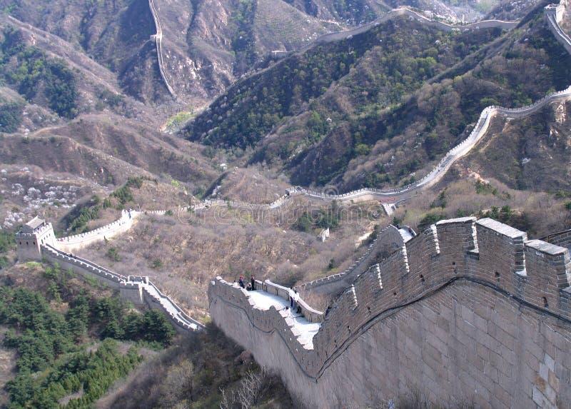 China hermosa, Gran Muralla imagen de archivo