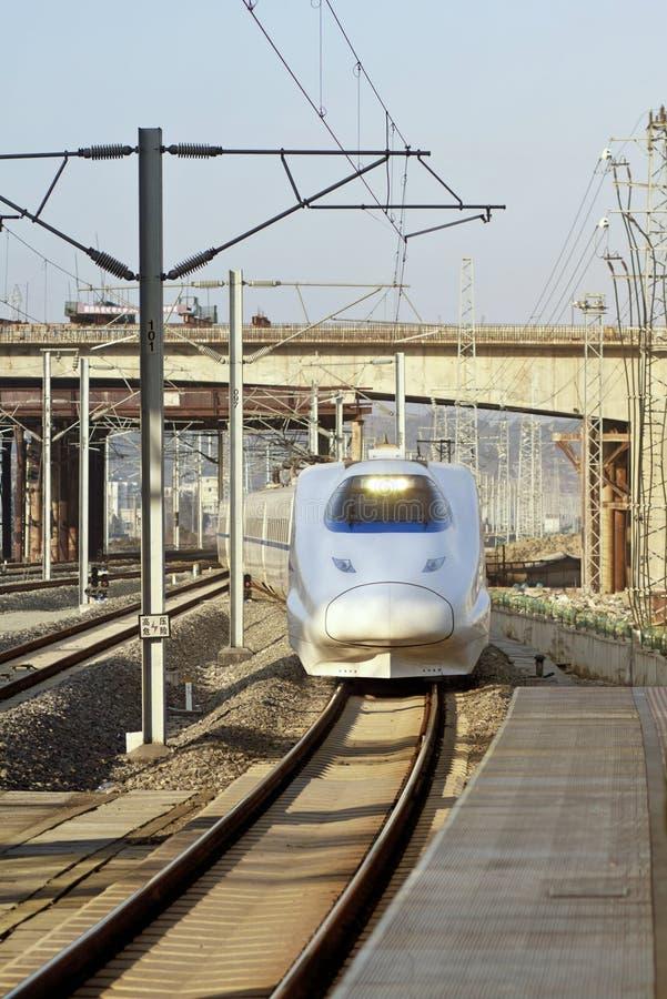 China High Speed Train. China railway high-speed development stock images