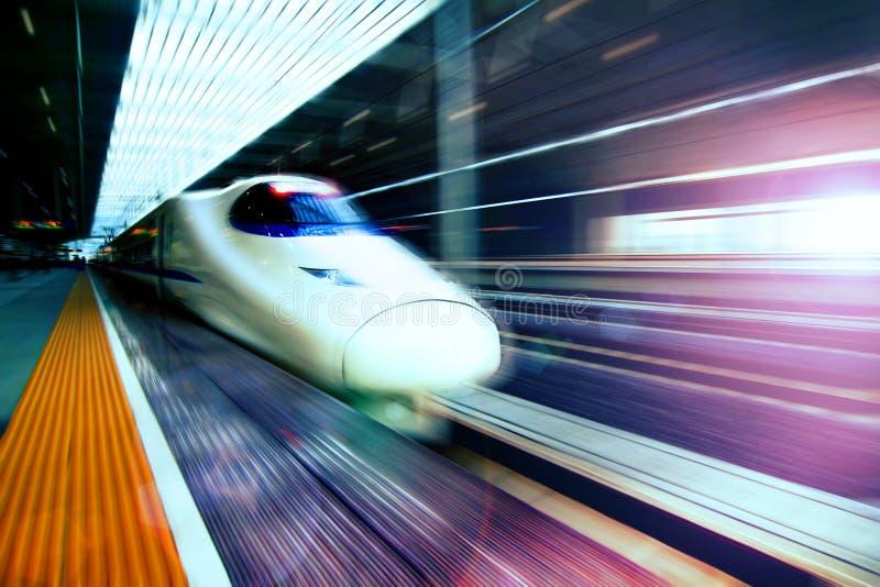 China High Speed Train. China railway high-speed development royalty free stock photo