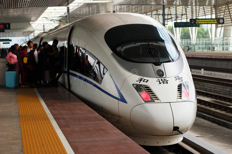 China high-speed train stock images