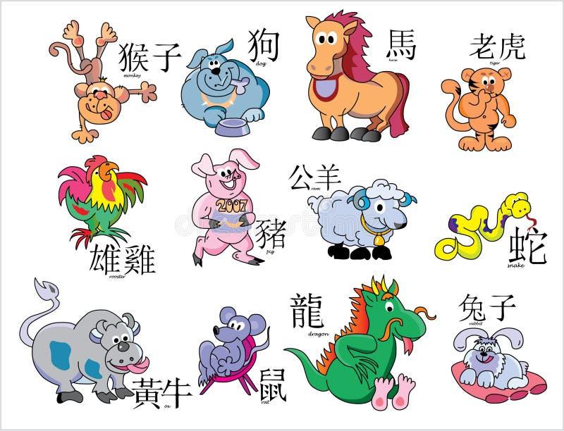 Download China horoscope stock vector. Image of horse, hieroglyphics - 1929524