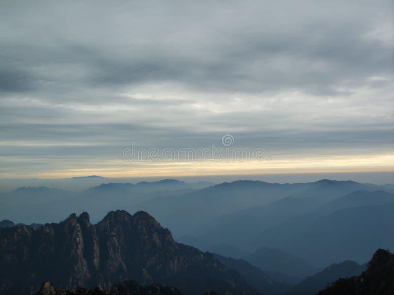 China Huangshan Sunrise royalty free stock image