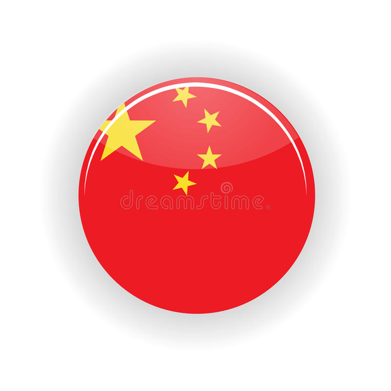 China icon circle. On white background. Peking icon vector illustration stock illustration