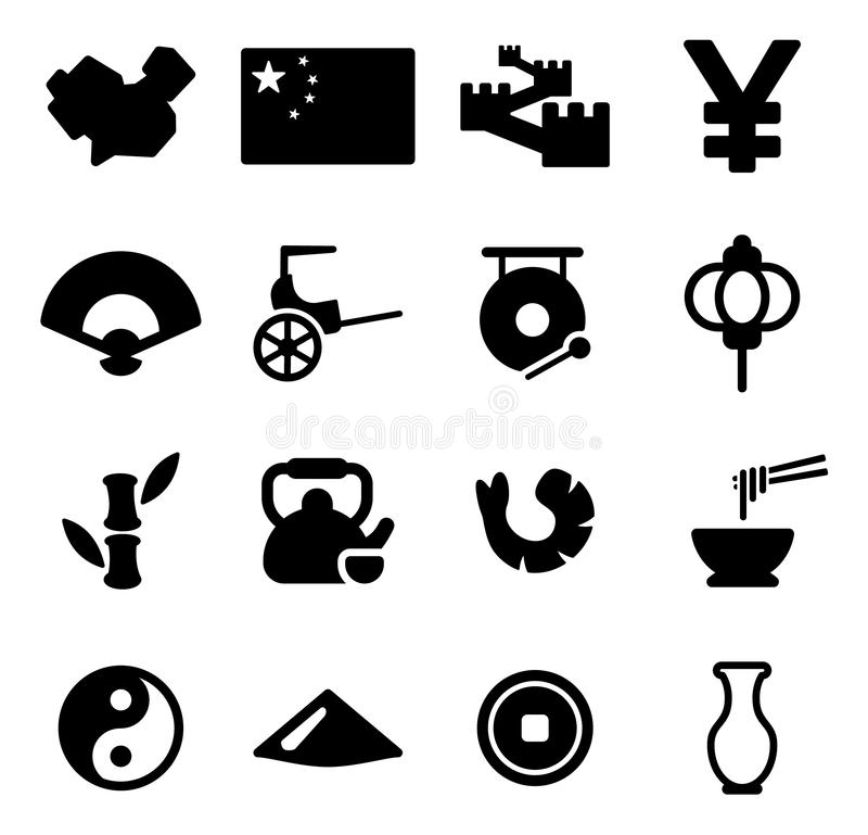 China Icons vector illustration