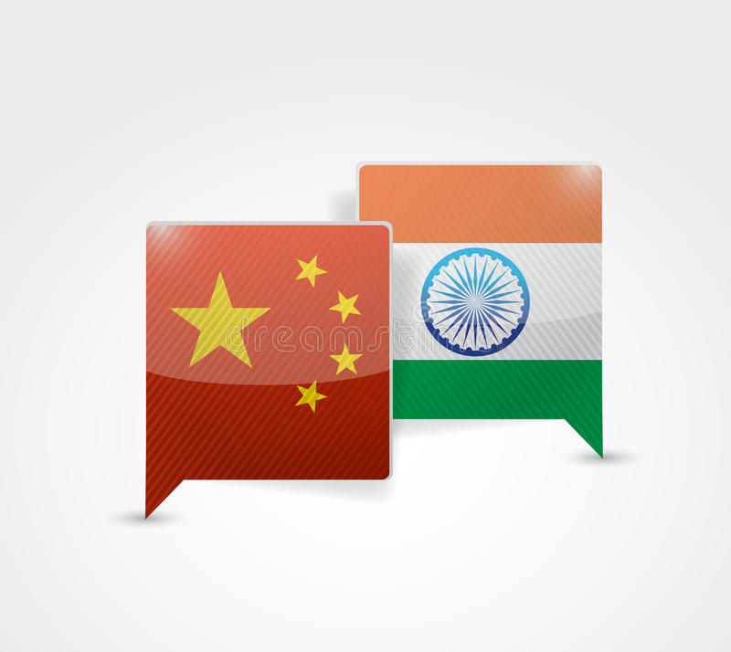 China and india message bubble royalty free illustration