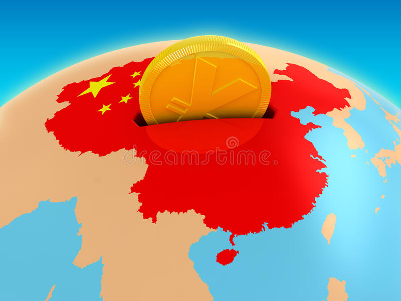 China investment vector illustration