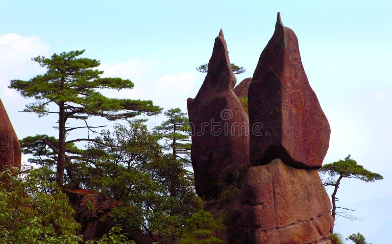 China jiangxi province sanqing hill mountain stock photos