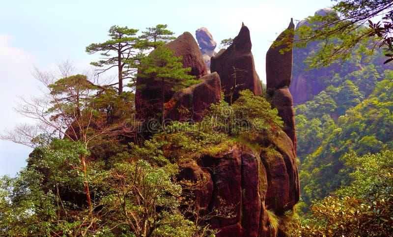 China jiangxi province sanqing hill mountain stock image
