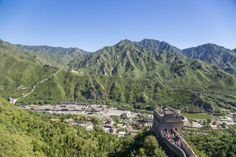 China, Juyongguan Turistas en la Gran Muralla de China fotos de archivo libres de regalías
