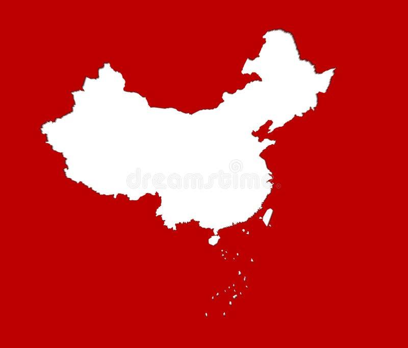 China-Kartenvektorillustration vektor abbildung