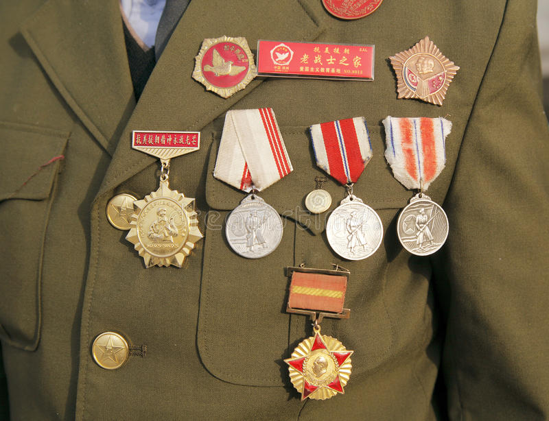 Download China Korean War veterans editorial stock image. Image of green - 14037729