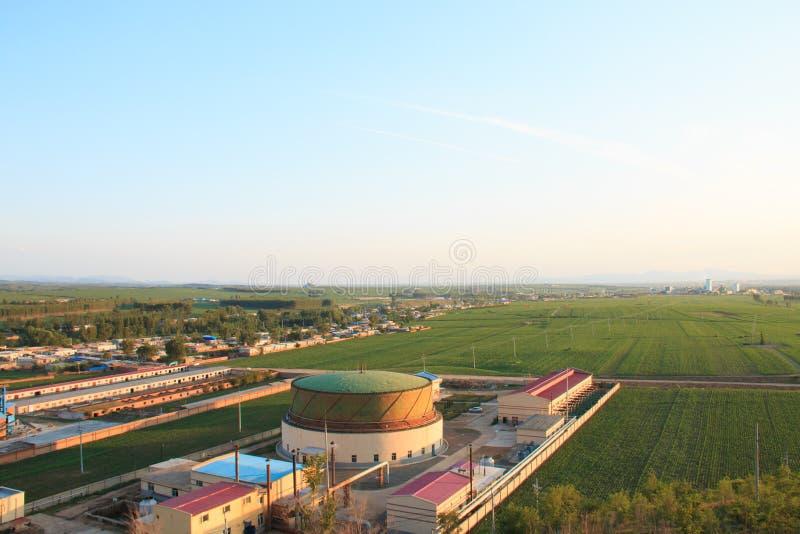 China-landwirtschaftliche Landschaft stockbild