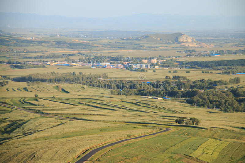 China-landwirtschaftliche Landschaft stockfoto