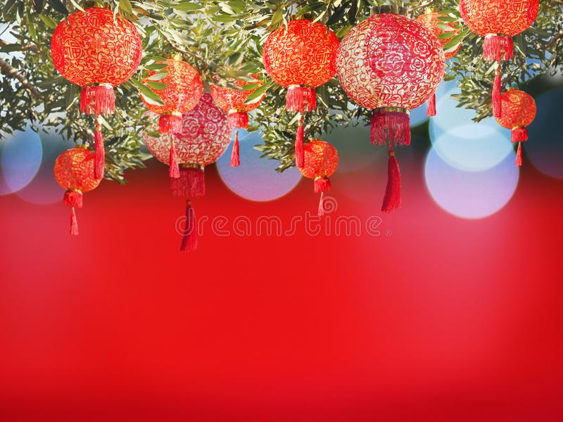 China lantern for Chinese New Year background. royalty free stock photos