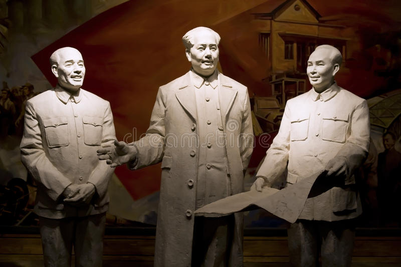 Download China leaders statue editorial stock image. Image of statue - 25142389