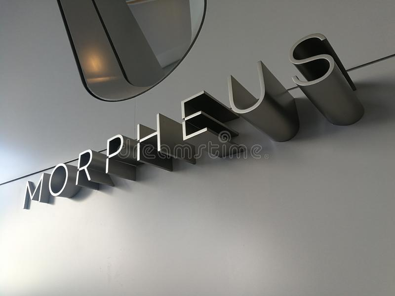 China Macao Macau Morpheus Hotel Signage 3D Designer Stylish Architect Zaha Hadid. Architecture stock photo