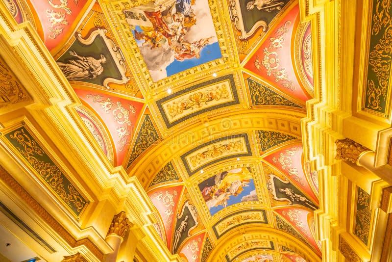 China, Macau - September 10 2018 - Beautiful luxury hotel resort. And casino game in Venetian landmark of macau city stock images