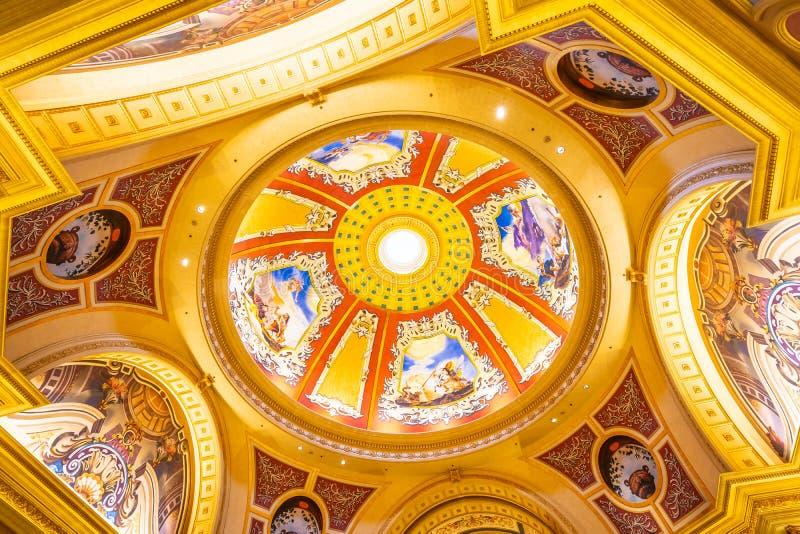 China, Macau - September 10 2018 - Beautiful luxury hotel resort. And casino game in Venetian landmark of macau city stock photo