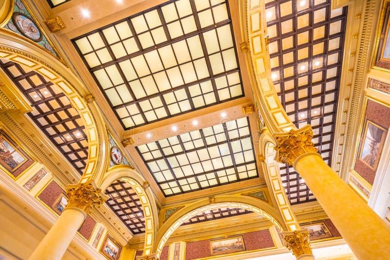 China, Macau - September 8 2018 - Beautiful luxury venetian hotel resort and casio with shopping mall in macau city royalty free stock image