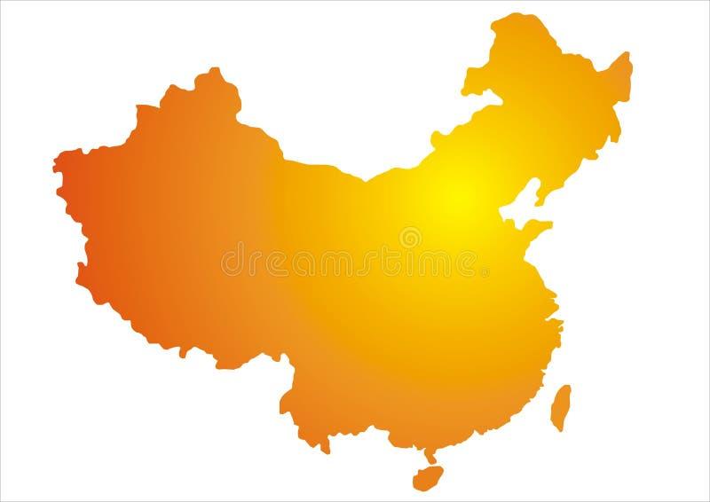 China map vector illustration