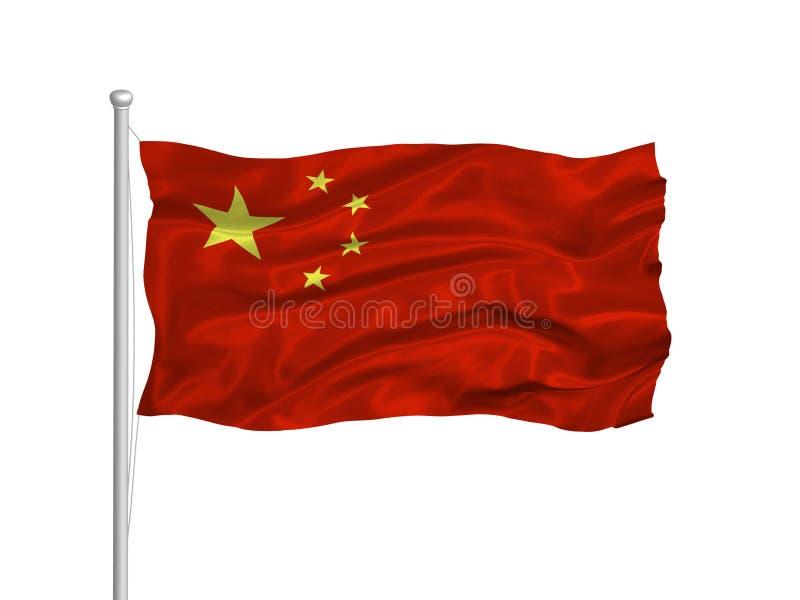 China-Markierungsfahne 2 lizenzfreie abbildung