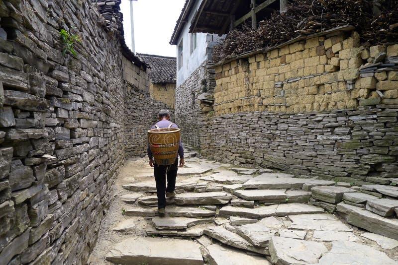 China Miao village. Western Hunan province, China`s unique characteristics of the Miao village, stone paving, stone walls royalty free stock image