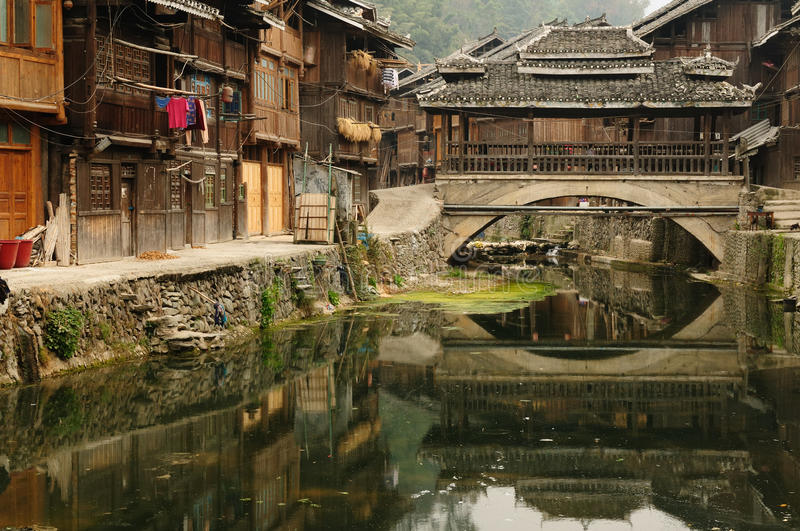 China - minority village royalty free stock image