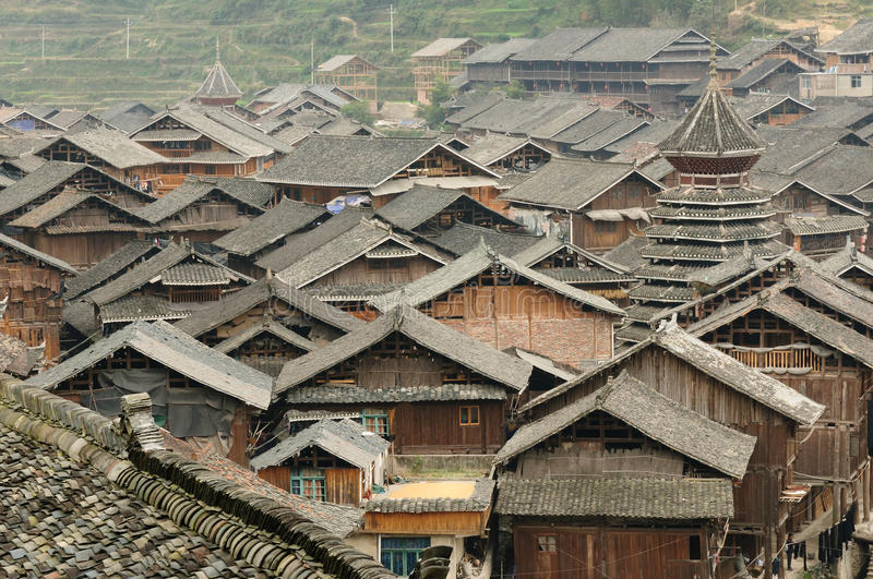 China - minority village royalty free stock images