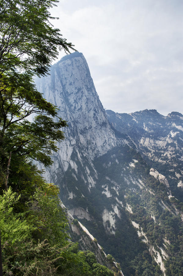 China:mountain hua landscape stock photos
