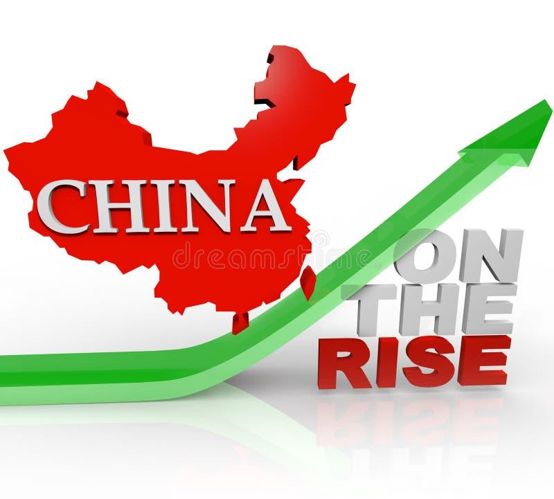 China na ascensão - mapa do país na seta ilustração do vetor