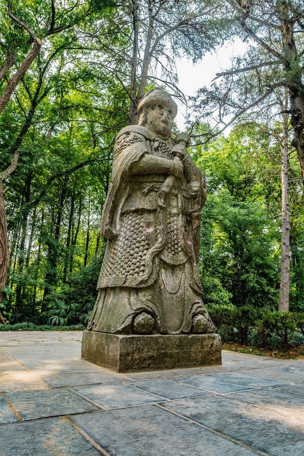 China Nanjing Ming Xiaoling Mausoleum 21. Nanjing Ming Xiaoling Mausoleum Elephant Road Spirit Way Statue of a Military Official Side View stock photography