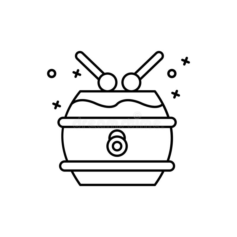 China national drum icon. Simple line, outline vector Chinese new year icons for ui and ux, website or mobile application royalty free illustration