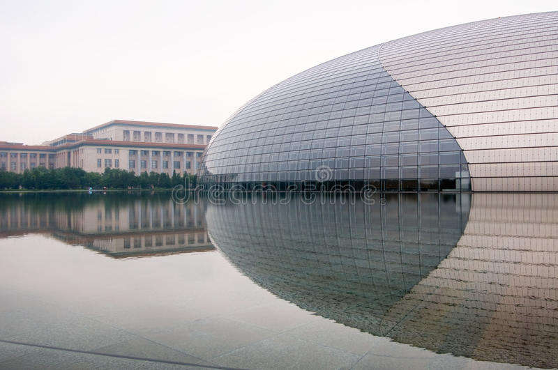 Download China National Grand Theatre Stock Photo - Image of exhibition, east: 13563310