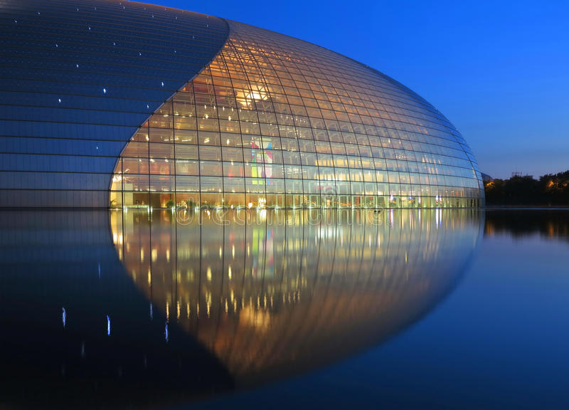 China-Nationaltheater in Peking stockfotos